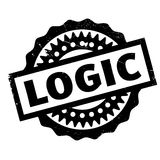 Logic rubber stamp Stock Photo