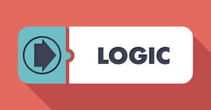 Logic on Scarlet Background in Flat Design. Royalty Free Stock Photos