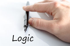 Logic text concept. Isolated over white background Stock Photos