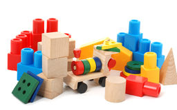 Logic toy. For children of preschool age. It is isolated on a white background Royalty Free Stock Images