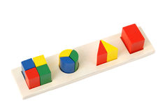 Logic toy. For children of preschool age. It is isolated on a white background Stock Photo
