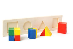 Logic toy. For children of preschool age. It is isolated on a white background Royalty Free Stock Photo