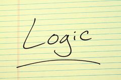 Logic On A Yellow Legal Pad Stock Photo
