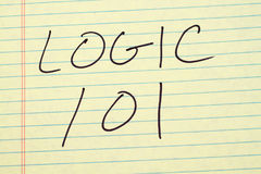 Logic 101 On A Yellow Legal Pad Stock Image