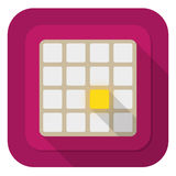 Logical game. Illustration of 2048 logical gameon purple background Royalty Free Stock Images