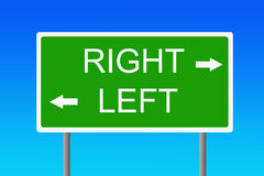 Logical sign. Very logical road sign indicating left and right royalty free illustration