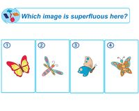 Logical task. Which image is superfluous here. Vector illustration stock illustration