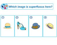 Logical task. Which image is superfluous here. Vector illustration vector illustration