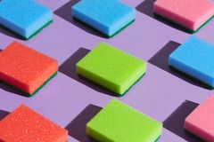 Logical thinking. a pattern of many parallel sponges royalty free stock image