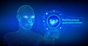 Logiciel d'automatisation des processus d'affaires de SAP Concept de syst?me de planification de ressources d'entreprise d'ERP su