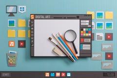 Logiciel de conception graphique Photographie stock libre de droits