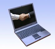 Logiciel de gestion d'entreprise réussi Photos libres de droits