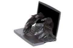 Logiciel de gorille réparant l'ordinateur Image stock
