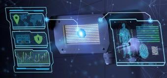 Logiciel de reconnaissance et de détection sur un système de caméra de sécurité - images stock
