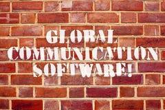 Logiciel de télécommunication mondiale des textes d'écriture de Word Concept d'affaires pour que les manières relient l'apparence photos stock