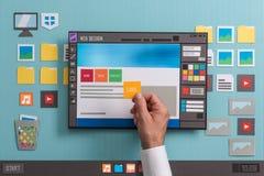 Logiciel de web design Image libre de droits