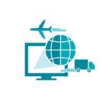 Logiciel pour la compagnie maritime Images libres de droits