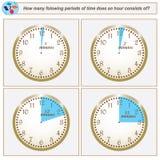 Logiczny zadanie Ile folowing okresów czasu robią godzina przeciwowi ilustracja wektor