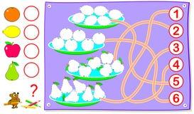 Früchte Zum Von Mathematik Zu Lernen Vektor Abbildung