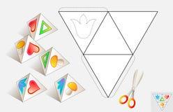 Logiki łamigłówka Rysuje istotnych wizerunki na wzorze, barwi i robi ostrosłupem, (jak pokazywać na próbkach) Zdjęcia Stock