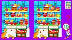 Logiki łamigłówki gra dla dzieci i dorosłych Potrzeba znajdować 10 różnic ilustracji