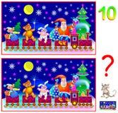Logiki łamigłówki gra dla młodych dzieci Potrzeba znajdować dziesięć różnic royalty ilustracja