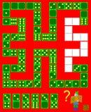 Logiki łamigłówki gra Potrzeba rysować pozostałych domina przy poprawnymi miejscami zamykać obwód Zdjęcie Royalty Free