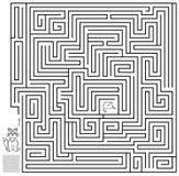 Logiki łamigłówki gra z labityntem Potrzebuje rysować sposób od kota do myszy Zdjęcie Royalty Free