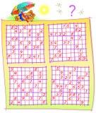 Logikpussel med Sudoku lekar Arbetssedel för barn och vuxna människor royaltyfri illustrationer