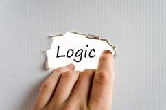 Logiktextkonzept Stockfotografie