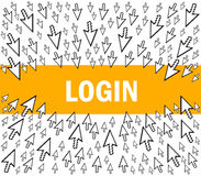 Login Stock Illustratie