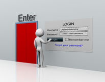 Login royalty free illustration