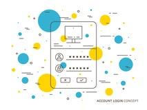 Login access webpage vector illustration Royalty Free Stock Photos