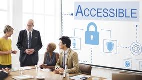 Login Accessible Password Authorized Permission Concept stock image