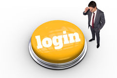 Login against white background with vignette Royalty Free Stock Images