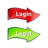 Login arrow Stock Images