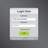 Login box form Stock Photos