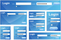 Login Box Vectors Stock Image