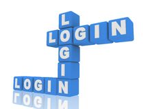 Login of boxes Royalty Free Stock Image