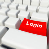 Login button Royalty Free Stock Image
