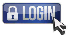 Login button Stock Photos