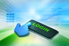 Login button with mouse cursor Royalty Free Stock Photography