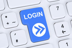 Login button submit on computer Stock Images