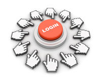 Login Button Stock Image