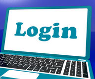 Login Computer Shows Website Log In Security Stock Photos