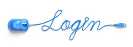 Login concept Stock Fotografie