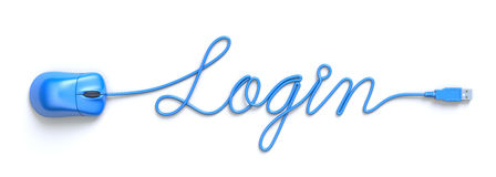 Login concept Stock Photography