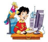 login d'alerte de moniteur d'ordinateur le programme de mot de passe Photos libres de droits