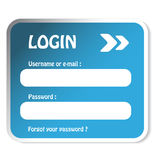 Login form. Illustration - see also my portfolio Royalty Free Stock Images