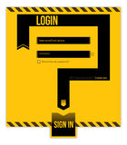 Login form concept Royalty Free Stock Images